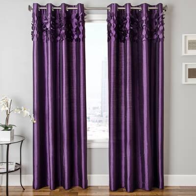 3497f2bc003 House of Hampton Taya Pintuck Solid Room Darkening Grommet Curtain ...