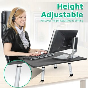 Hypes Laptop Monitor Height Adjustable Standing Desk Converter