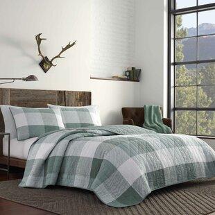Boulder Plaid Reversible Quilt Set