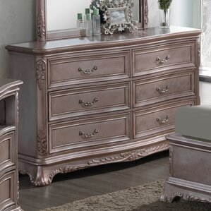 Longstaff 6 Drawer Dresser with Mirror by Astoria Grand