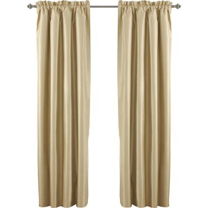 Robichaux Solid Blackout Thermal Rod pocket Single Curtain Panel