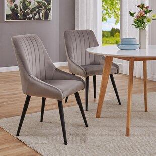 Velvet Upholstered Side Chair Set of 2