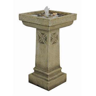 Wildon Home ® Resin Garden Column Fountain