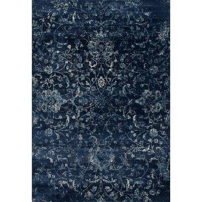 Lark Manor Devay Floral Steel Blue Area Rug Rug Size: 6'7 x 9'6