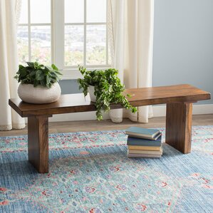 Shamane Wood Bench by Gracie Oaks