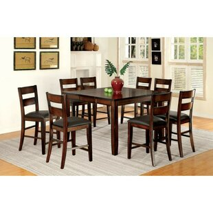 Mcfee Transitional 7 Piece Solid Wood Dining Set