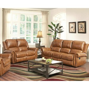 Bitter Root Leather 2 Piece Living Room Set ..