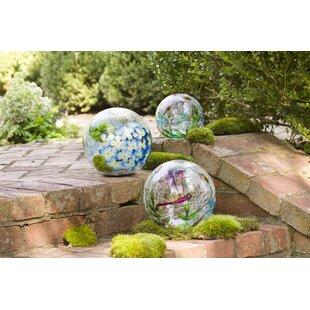 Crackle Glass Balls 3 Piece Gazing Globe