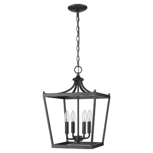 Rancourt 4-Light Lantern Pendant by Charl..