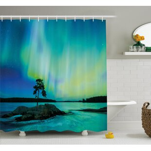 River Borealis Shower Curtain + Hooks