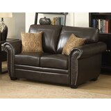 Railsback 67 Wide Faux Leather Round Arm Loveseat by Red Barrel Studio®