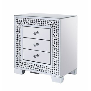 Ervine 3 Drawer Nightstand