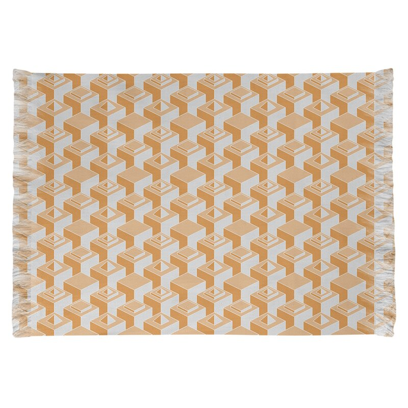 East Urban Home Skyscrapers Orange Area Rug Wayfair