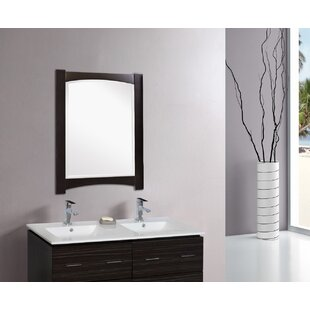 Royal Purple Bath Kitchen Kimbrell Rectangular Birch Wood-Veneer Wall Mirror