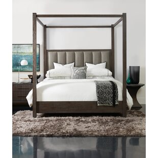 Miramar Tufted Low Profile Canopy Bed by Hooker Furniture
