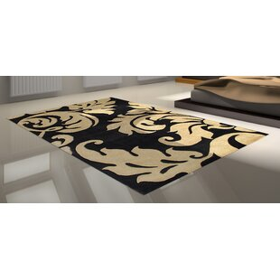 Hand-Tufted Brown/Black Area Rug ByThe Conestoga Trading Co.