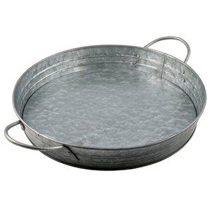 Thoby Galvanized Round Tray