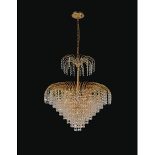 Palm Tree 11-Light Chandelier by CWI Lighting