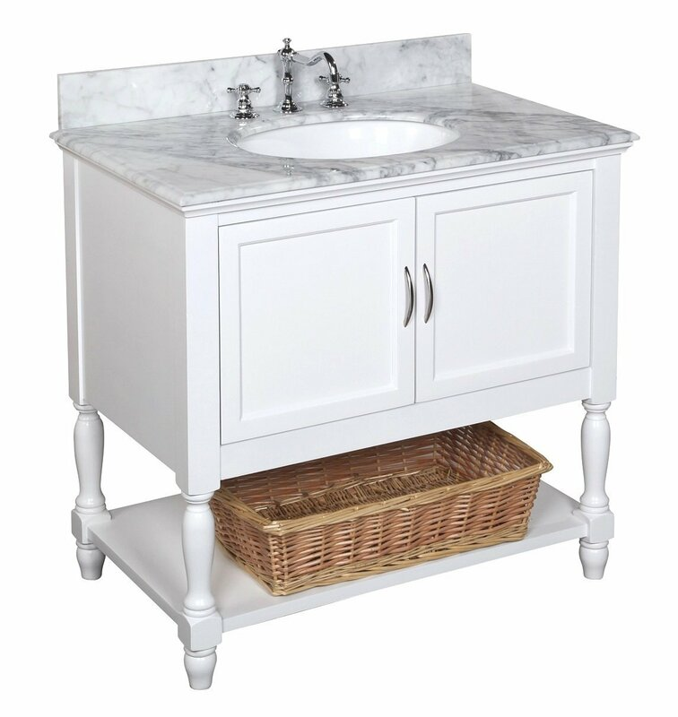 "kbc beverly 36"" single bathroom vanity set & reviews 