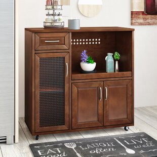 Landfall Microwave Cart Red Barrel Studio