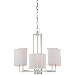 Affordable Bouley 3-Light Shaded Chandelier By Ivy Bronx