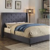 Lanigan Upholstered Wingback Bed by Alcott Hill®