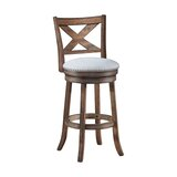 Mackin Wooden Swivel Bar & Counter Stool by Gracie Oaks