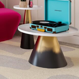 Sylvain Abstract End Table by Everly Quinn