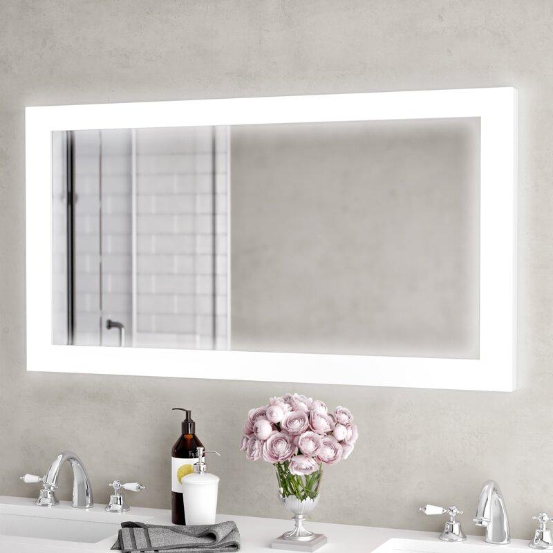 17 Best Images About Bathroom Modern On Pinterest: Orren Ellis Moorhead Backlit LED Lighted Bathroom /Vanity