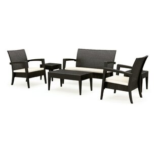 Brayden Studio Kesler Bench Sunbrella Seating Group with Cushions