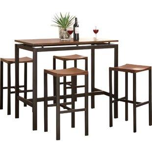 Mcgonigal 5 Piece Pub Table Set