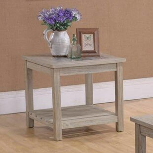 Bargain Deese End Table by Highland Dunes