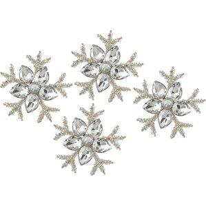 snowflake napkin ring set of 4