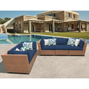Rosecliff Heights East Village 5 Piece Sectional Set with Cushions