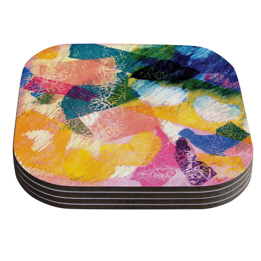 Kess InHouse Gabriela Fuente California Dream Rainbow Abstract Table Runner