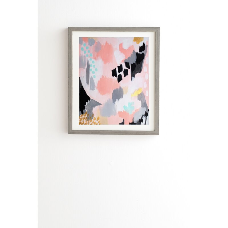 Serenity Abstract By Laura Fedorowicz Picture Frame Graphic Art Print On Wood Reviews Allmodern