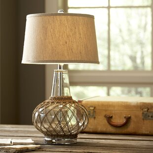 Silsbee Glass Table Lamp by Highland Dunes