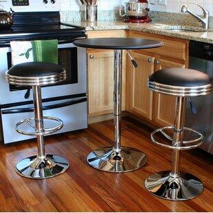 Ebern Designs Impriano Classic Retro 3 Piece Adjustable Pub Table Set