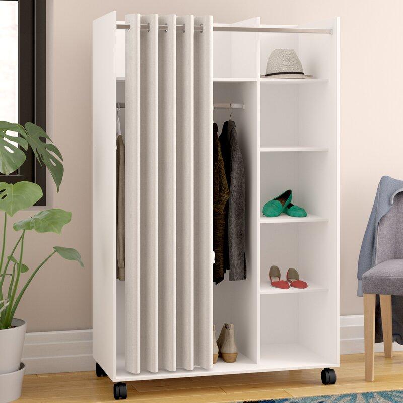 Ebern Designs Garderobenschrank Loke & Bewertungen | Wayfair.de
