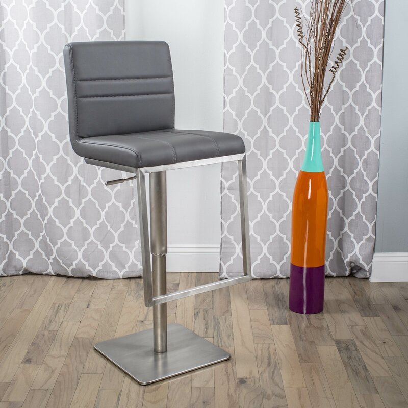 Adjustable Height Swivel Bar Stool & Matrix Adjustable Height Swivel Bar Stool u0026 Reviews | Wayfair islam-shia.org