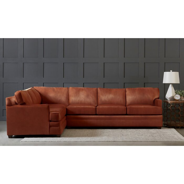 Excellent Leather Symmetrical Sectional Gmtry Best Dining Table And Chair Ideas Images Gmtryco