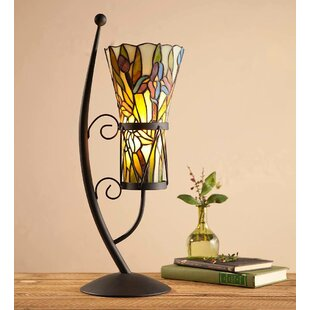 Stained Glass Vase-Style 23 Arched Table Lamp