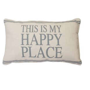 Milliken This Is My Happy Place Linen Lumbar Pillow