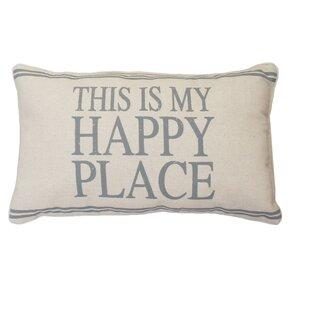 Milliken This Is My Happy Place Linen Lumbar Pillow