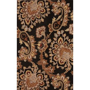 Compare One-of-a-Kind Bovill Agra Oriental Hand-Tufted 5' 1'' X 7' 9'' Wool Brown/Black Area Rug ByCanora Grey
