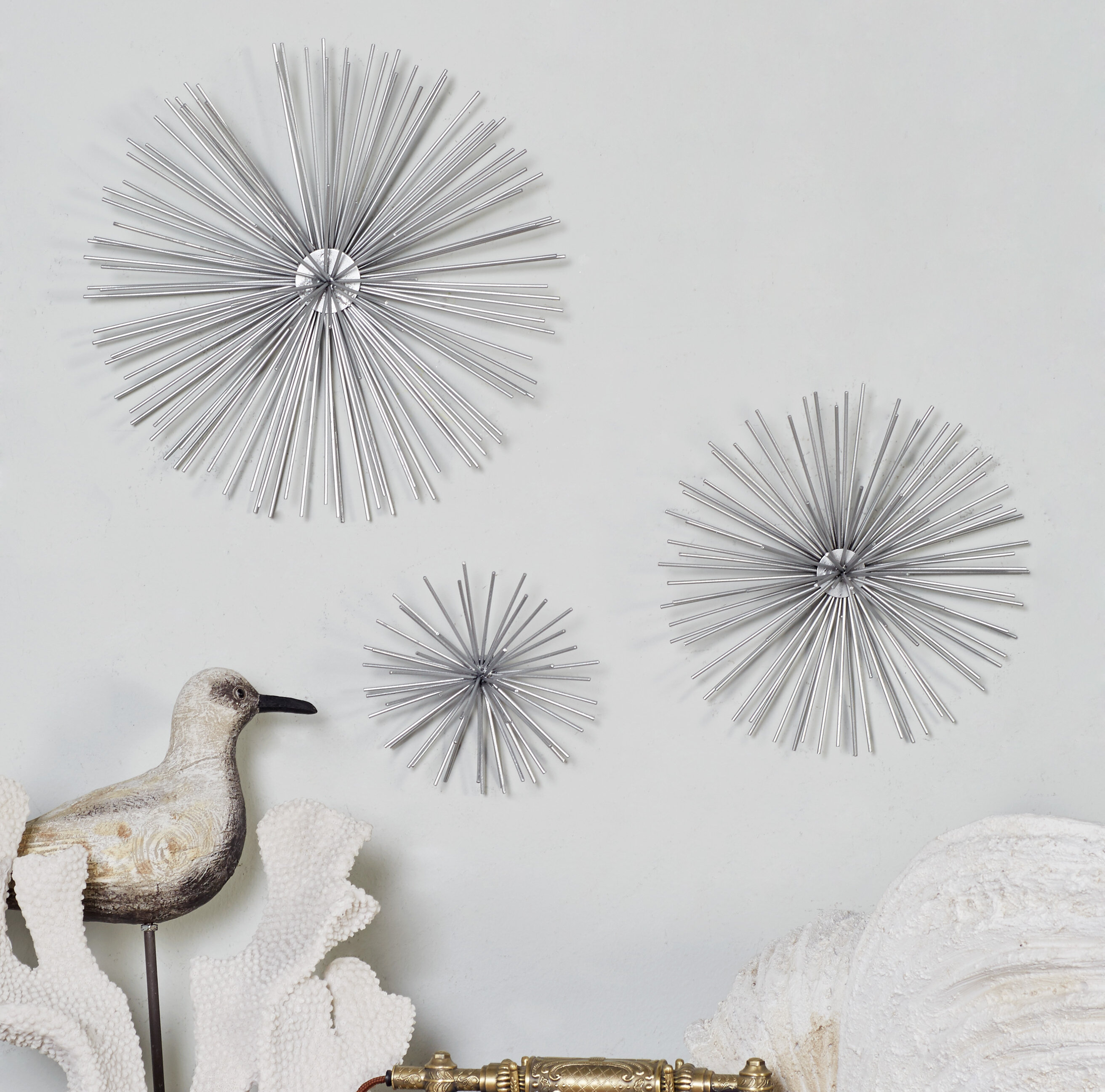 home metal burst silver stratton acrylic decor ip walmart com wall