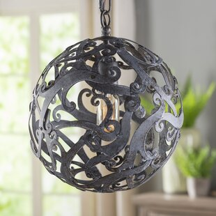 Aabha 1-Light Pendant by Gracie Oaks