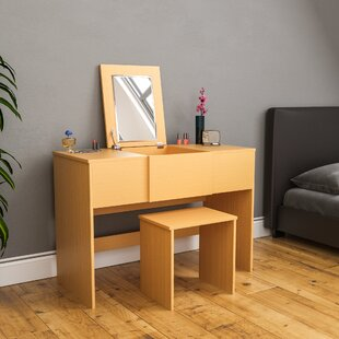 Reiban Dressing Table Set With Mirror By 17 Stories
