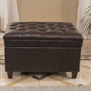 Classic Tufted Waxed Texture Storage O..