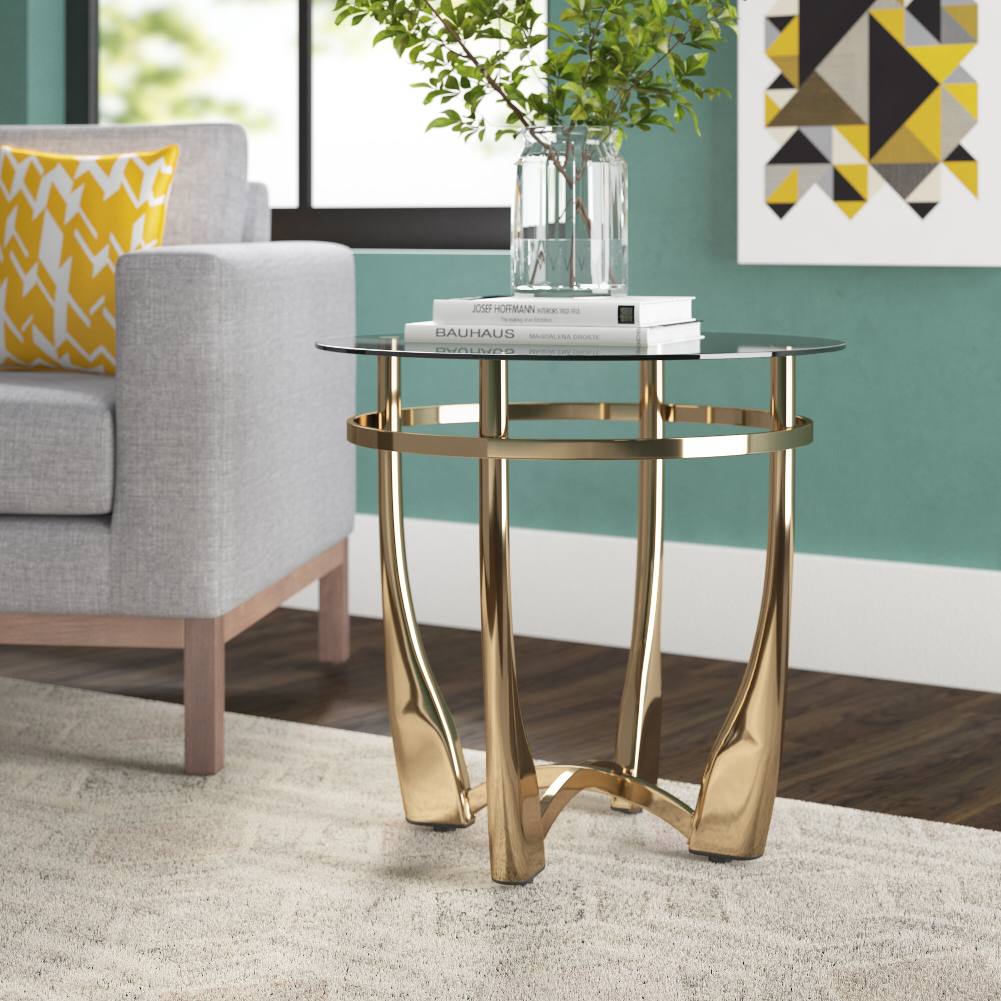 Berton Clear Glass End Table